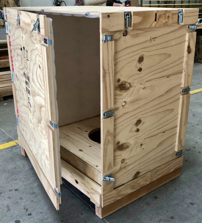 Cajas de madera desmontables con cierres